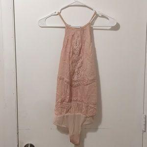 Free people bodysuit/blouse xs